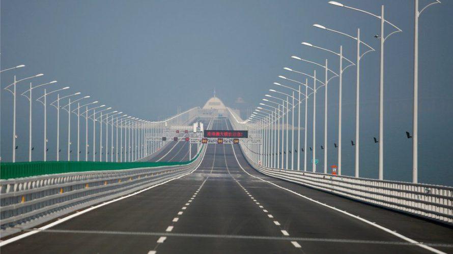 У Кітаі адкрылі самы доўгі марскі мост