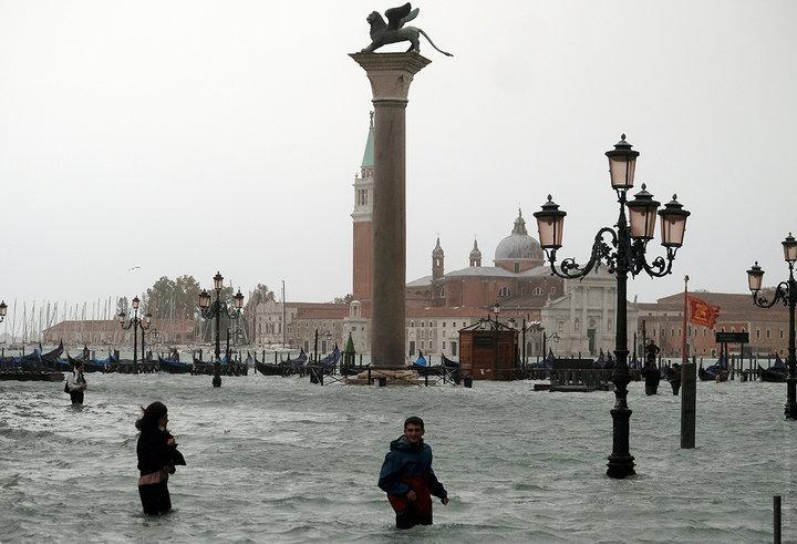 Катастрафічная паводка ў Венецыі