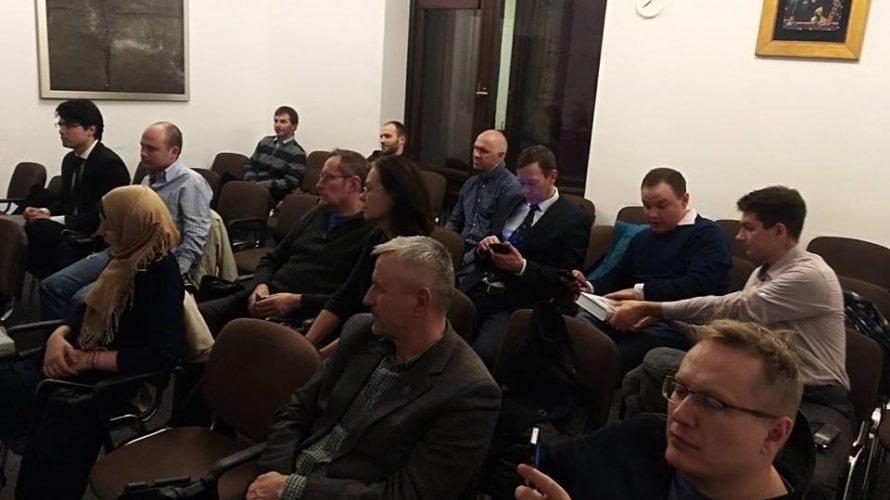 Алесь Смалянчук прэзентаваў у Варшаве кнігу пра Скірмунта