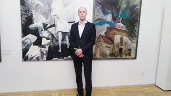 Аляксей Навуменка адкрыў сваю выставу ў Варшаве