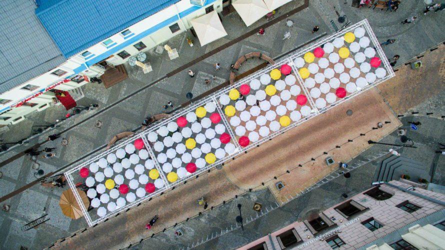 У Мінску на Камсамольскай з дрона разгледзелі сілуэт разбуранага касцёла